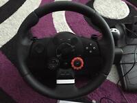 Logitech GT PS3 Steering Wheel & Pedals