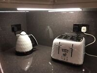 White DeLonghi Brilliante kettle and toaster £35 for both