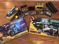 MASSIVE SCALEXTRIC BUNDLE (CAR + MOTORBIKES)