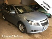 NOW REDUCED! 2009 59 plate Chevrolet Cruze 1.6 LS met blue, mot March 2018 new t/belt LOVELY CAR!