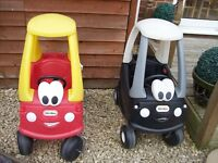 LITTLE TIKES COSY COUPE ALSO POLICE CAR COSY COUPE
