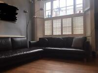 CAMERICH BROWN LEATHER SOFA