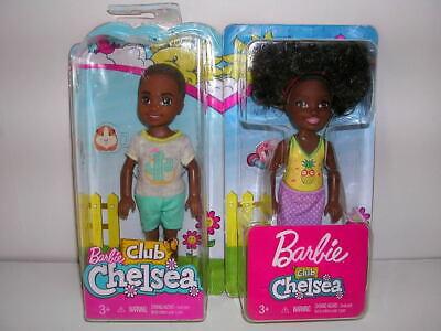 BARBIE CLUB CHELSEA AA DOLL African American BOY AND GIRL DOLLS BRAND NEW