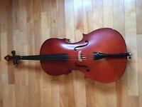 Stringers 3/4 cello with bow and soft case