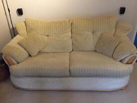 Cream Park furnishers sofa
