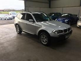 55 Reg BMW X3 2.0d full leather sat nav mint 4x4 guaranteed cheapest in country