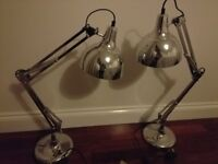 Matching angle poise Bedside lamps, angle poise desk lamps