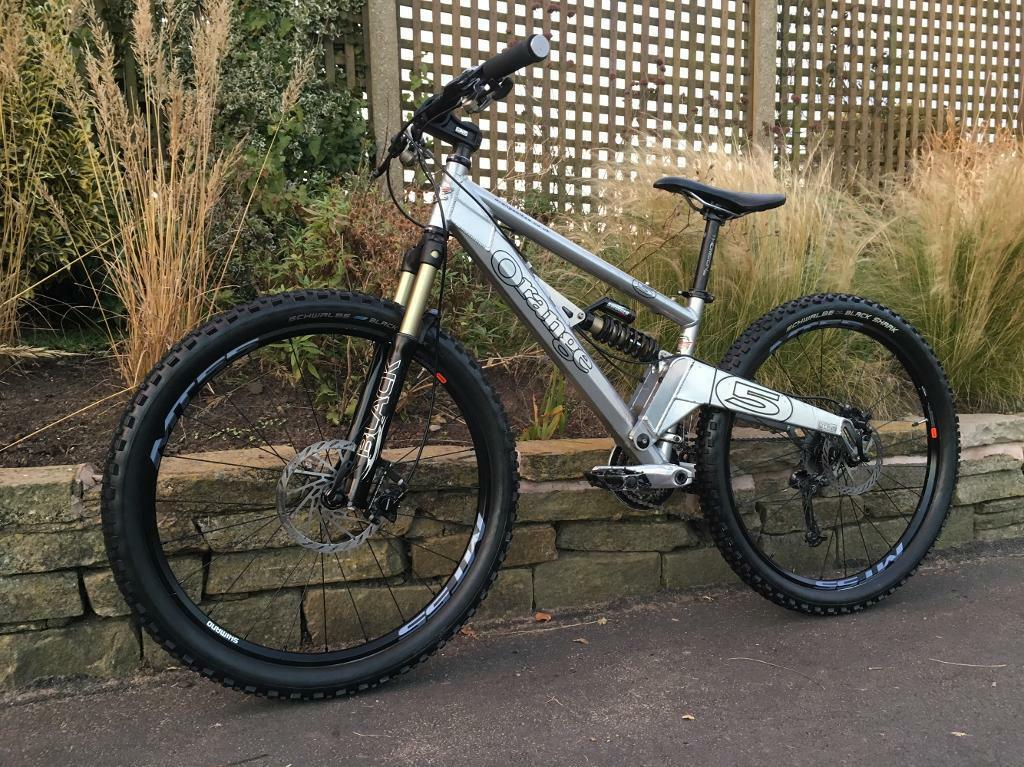 *SOLD* Orange five pro Downhill mountain bike, HIGH SPEC, HOPE, MANITOU