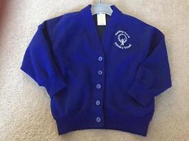 Girls boys Brinkley grove school blue cardigan 3-4 4-5