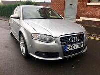 AUDI A4 S LINE TDI 2007 FULL MOT IMMACULATE CONDITION DRIVE AWAY TODAY