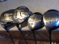 3 Left handed Ping Woods and Cleveland Launcher driver