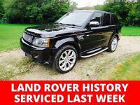 2009 LAND ROVER RANGE ROVER SPORT HSE 3.0L TDV6 BLACK FSH 90K - RECENTLY SERVICED LAND ROVER HISTORY
