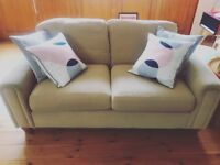 Large 2 seater light tan neutral sofa 2 sofas are available Marks and Spencers