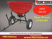 Sealey SPB57T Broadcast Spreader 57kg Tow Behind Snow Ice Frost Cold Winter Salt Grit Sand