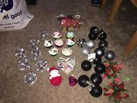 Christmas decoration bundle ball balls napkins etc