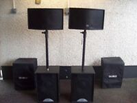 martin blackline s12 bass bins.and ict 300 tops.