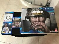 PS4 slim 500gb.Boxed.9 weeks old.3new latest games.Receipt and warranty £260 NO OFFERS.CAN DELIVER