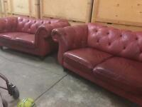 Pair Of Chesterfield Sofa's