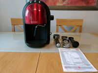 **LIKE NEW. RRP £99 ** Morphy Richards Red Accents Espresso Coffee Machine.