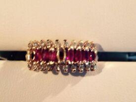 Gold Ring ruby diamonds