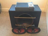 Speaker system sub amp speakers