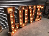 *Giant LOVE Reclaimed Rustic Wood 4ft LOVE Letters Hand Made **HIRE ONLY**