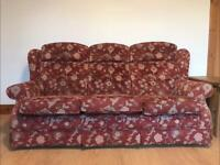 3 piece Parker Knoll suite sofa and armchairs