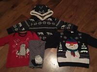 Boys Christmas clothes bundle 12-18 months