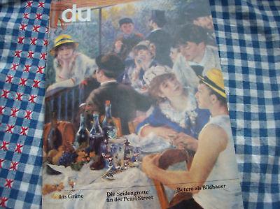 du 495 Botero als Bildhauer SEIDENGROTTE Pearl Street; Ins Grüne pp. 5/1982 Kt.