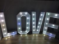 5ft LED LOVE LETTER HIRE