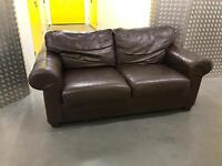 Brown leather sofa, Free delivery