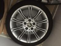 "BMW E46 3 SERIES M SPORT SET OF 4 18"" MV2 ALLOYS WHEELS WITH TYRES UK"