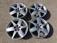 Original Saab alloy wheels 17'