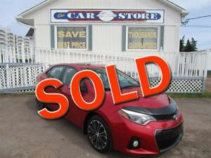 2014 Toyota Corolla S SUNROOF BACK UP CAMERA HTD LEATHER