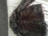 Girls faux fur coat age 9 small fit