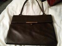 Debonair Brown faux leather vintage bag