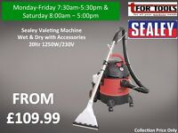 Sealey Valeting Machine Wet & Dry with Accessories 20ltr 1250W/230V