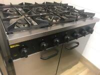 Buffalo 6 Burner Hob And oven