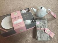 Mary berry afternoon tea gift set - teapot cups saucers cotton napkins - ideal gift