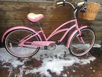 Ladies Pink cruiser bike