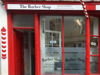 Barber shop. Try before you buy