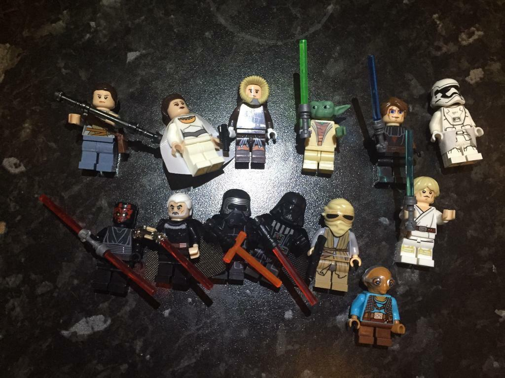 13 Lego like Star Wars figures