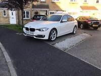BMW 318d diesel m-sport white f30