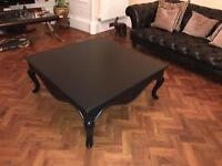 Square black coffee table ex display RRP £600