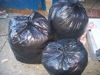 3 black bags ladies clothes 8s-10s-12s