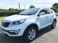 2013 Kia Sportage CRDi 2 1.7 in Arctic White. Immaculate. Taxed to Feb 2019.