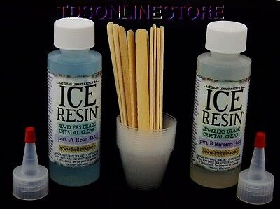 Ice Resin Doming Kit  (4oz Resin 4oz Hardener And Mixing Tools)