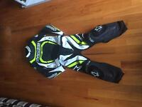 Alpinestars motorcycle leather 2 piece suit