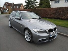 IMMACULATE 2010 GREY BMW 320D M SPORT BUSINESS EDITION TOURING LCI LOW MILES FSH PRO NAV LEATHER