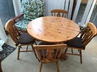 Solid table & four chairs